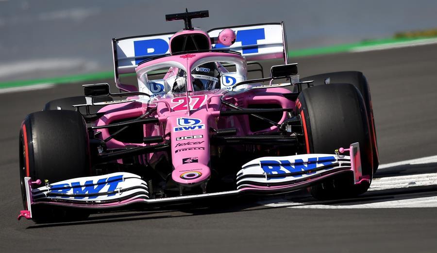 Pese a los problemas, el equipo británico está haciendo de las suyas en los entrenamientos de Silverstone