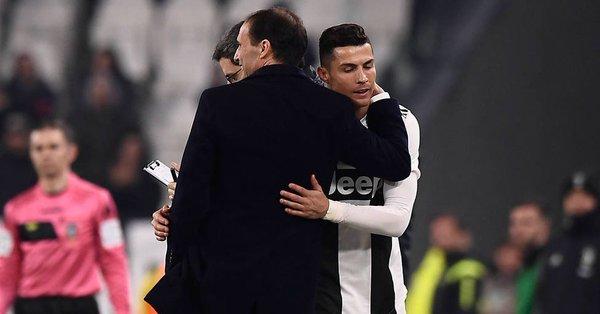 """""""Esperemos tener a Cristiano para la ida con el Ajax. Está trabajando bien cada día y debemos ser optimistas. Su pierna está mucho mejor"""", dijo el estratega de la Juventus"""