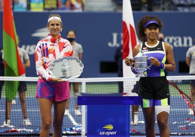 La japonesa vino de atrás para imponerse a Azarenka en tres sets