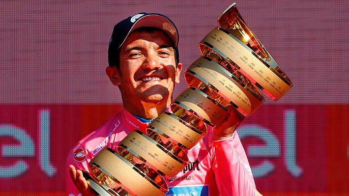 Este día, hace un año, el ciclista ecuatoriano conquistó en Verona el trofeo del Giro de Italia