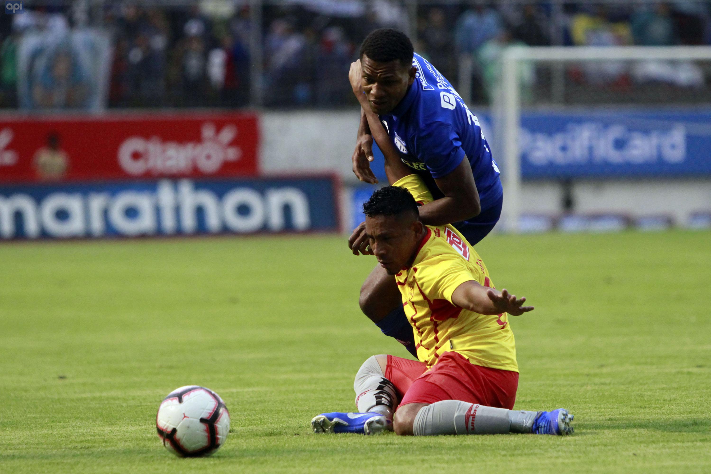 Romario Caicedo analizó el duelo de Emelec ante Macará, en el arranque de los play-offs