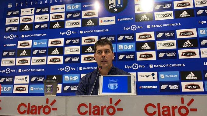 El técnico de Emelec reafirmó la única consigna del equipo para el domingo en el Capwell y el jueves en el Bellavista contra Macará