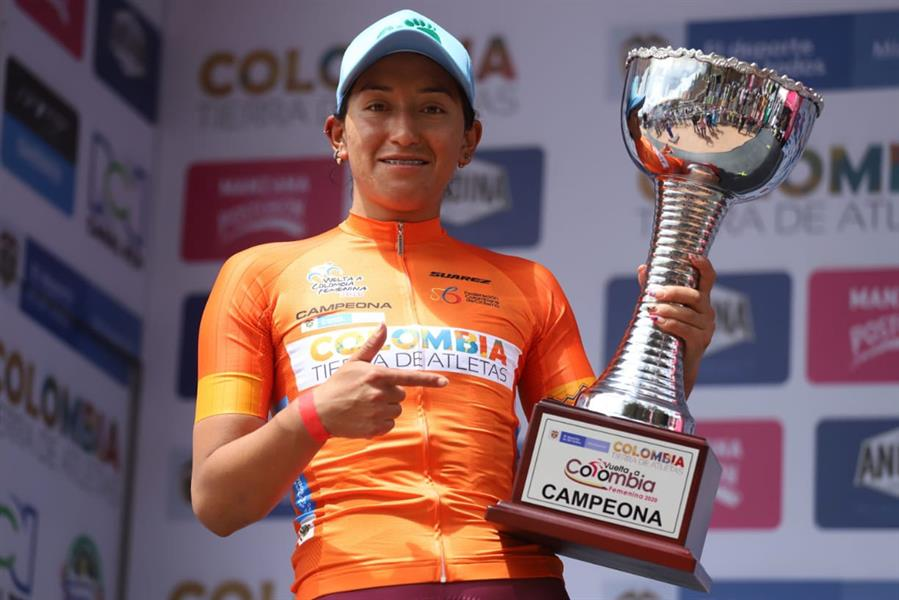 La ecuatoriana logró el triunfo con una ventaja de 24 segundos sobre su inmediata perseguidora