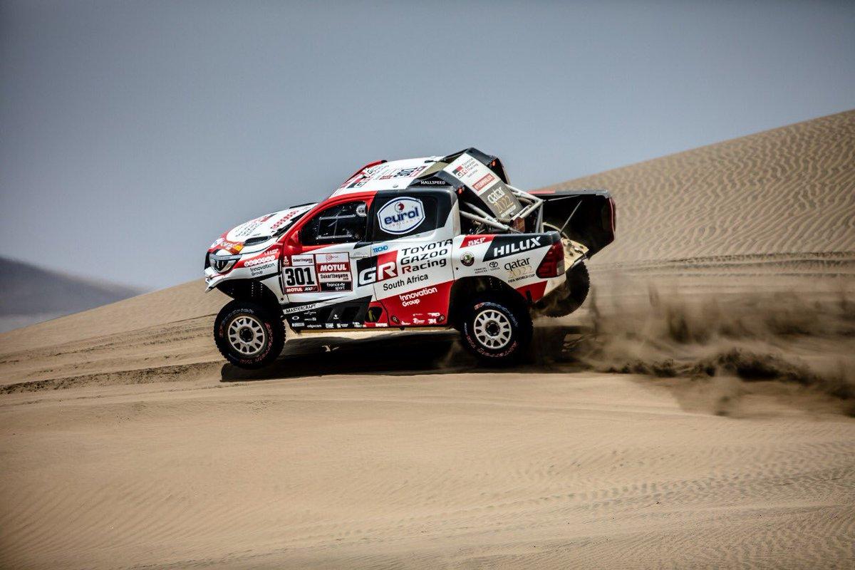 La quinta etapa del Dakar se disputó entre Tacna y Arequipa, en Perú, con una distancia de 714 kilómetros