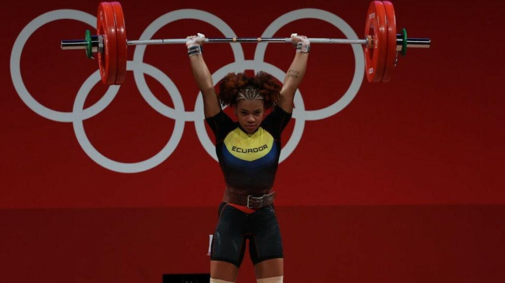 La ecuatoriana terminó sexta en la división femenina de los 64 kg en halterofilia