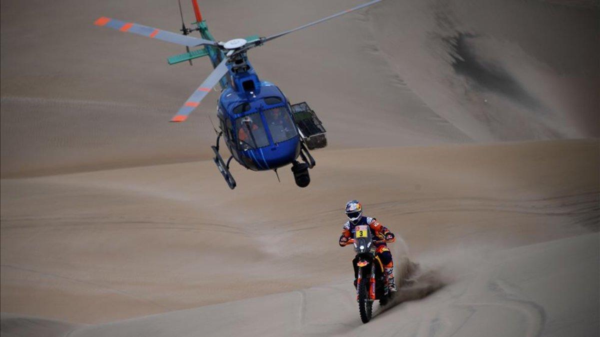 El australiano se jugará la victoria en este Dakar contra el chileno Pablo Quintanilla (Husqvarna), que hizo el segundo mejor tiempo del día