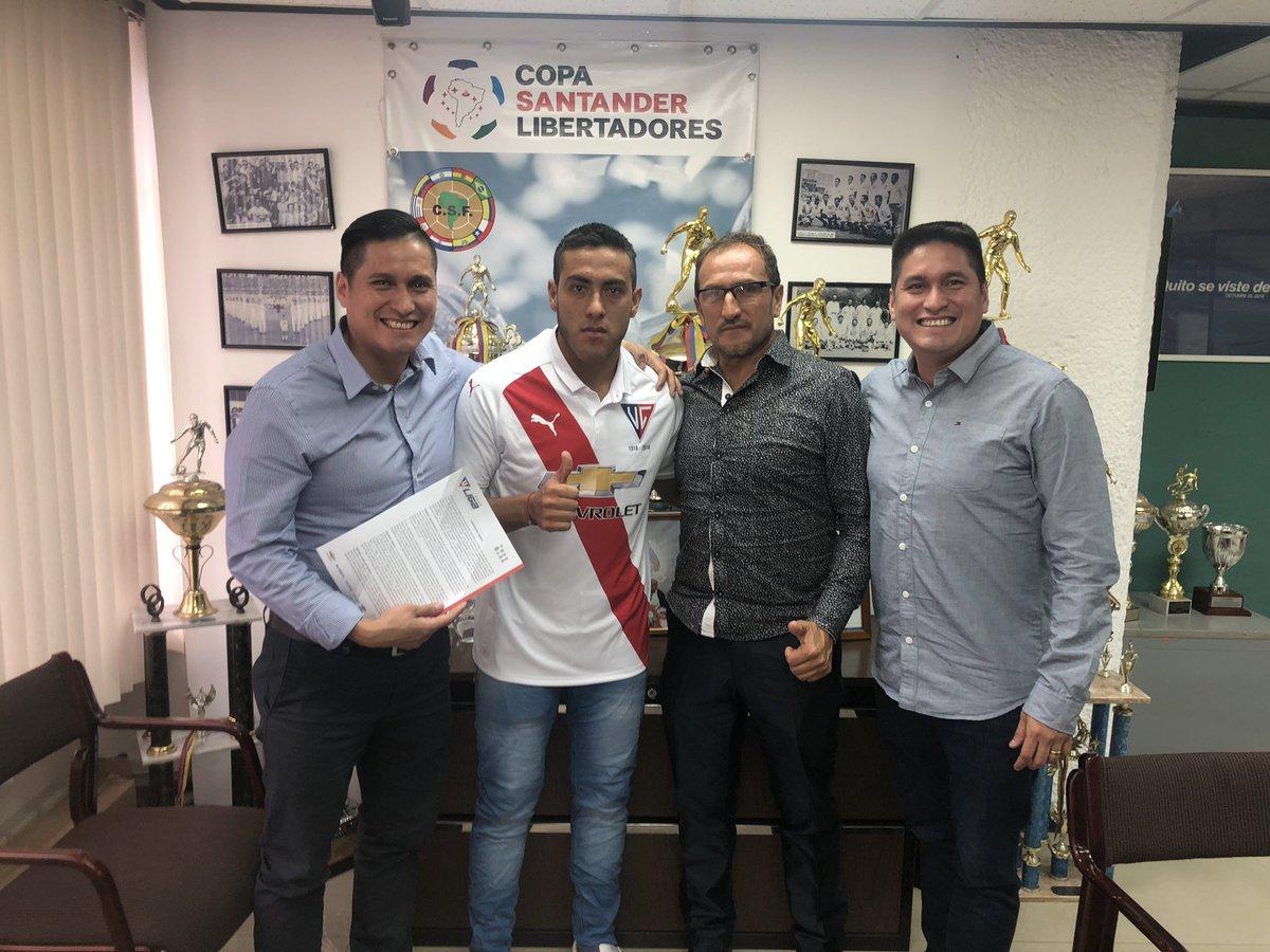Luis Andrés Chicaiza selló su vinculación con Liga de Quito por cinco temporadas