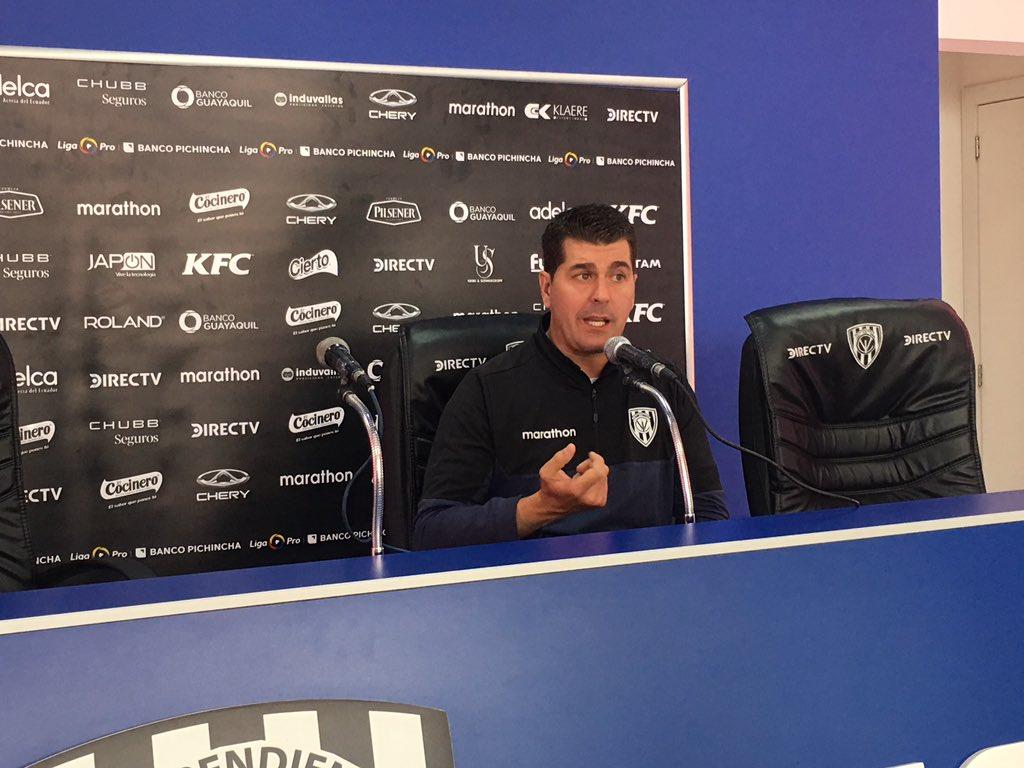 Ismael Rescalvo, técnico de IDV, confía en remontar el marcador ante Unión, este miércoles por Copa Sudamericana