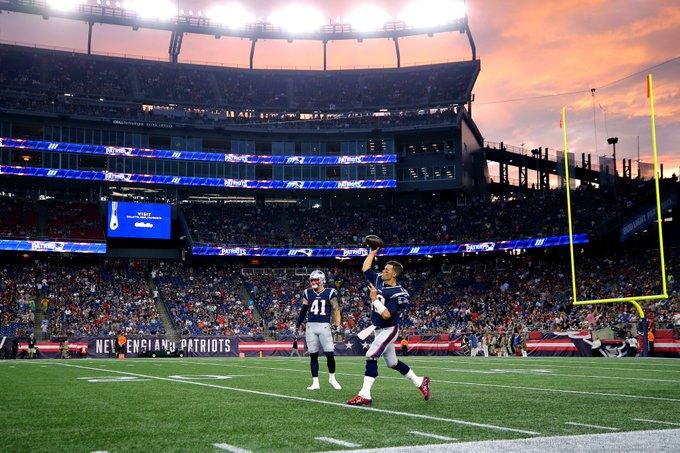 Brady, de 42 años, terminó su primer juego de exhibición del 2019 completando ocho de 12 pases para 75 yardas