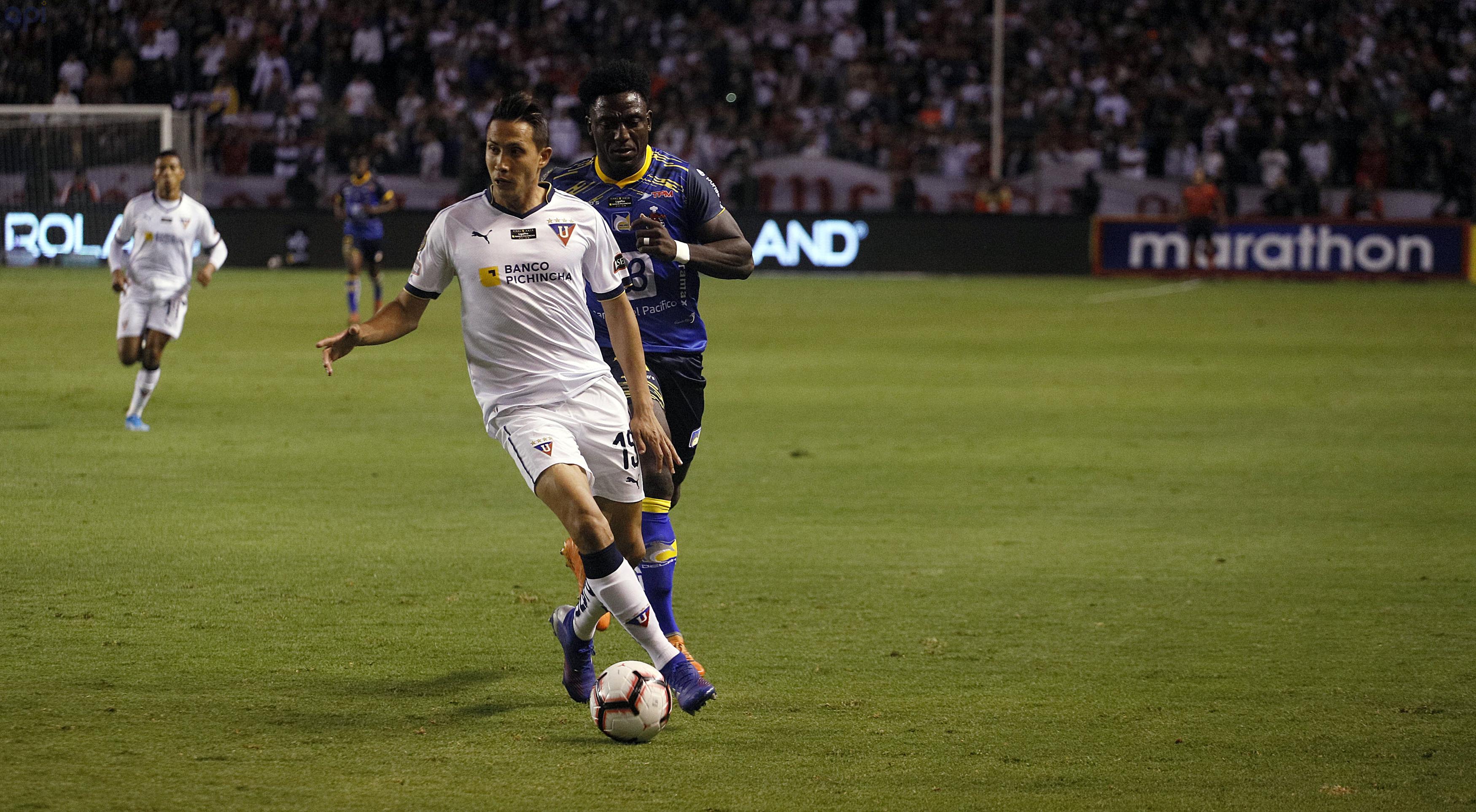 Franklin Guerra, defensa de Liga, está enfocado en lograr el título de la Supercopa Ecuador