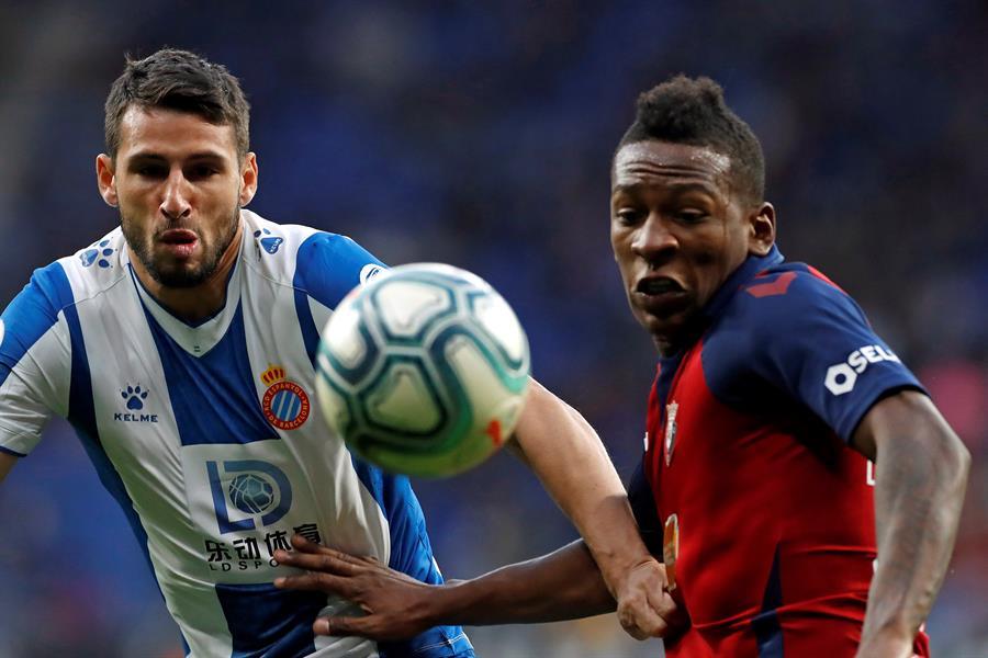 El ecuatoriano fue el co-autor del primer gol en el triunfo sobre Espanyol