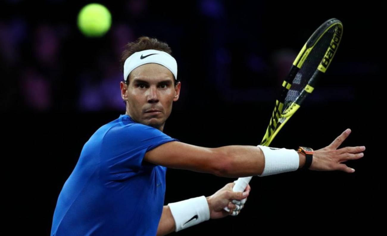 En el torneo virtual de tenis, Nadal debutó jugando contra el canadiense Denis Shapovalov, al que venció por 4-3 (3)