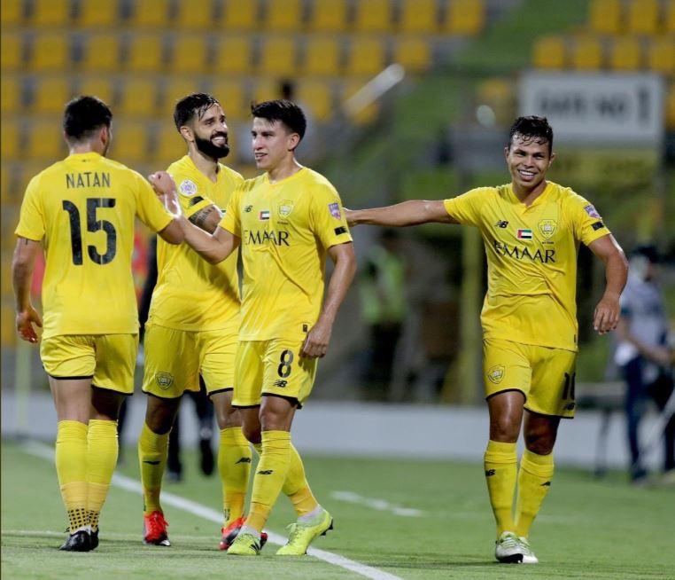 Fernando Gaibor, quien arrancó como titular, fue partícipe de la victoria del Al Wasl  por 4-3 sobre el Hatta Club