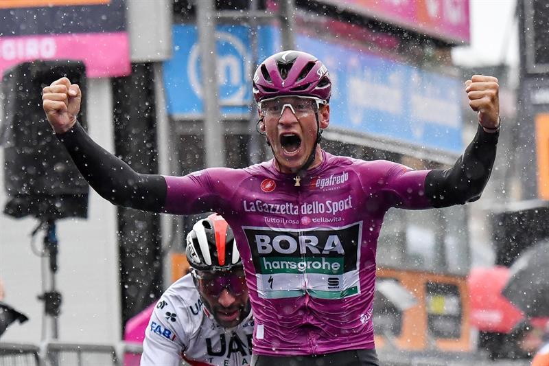 El ciclista alemán ganó hoy los 140 km de la quinta etapa del Giro de Italia