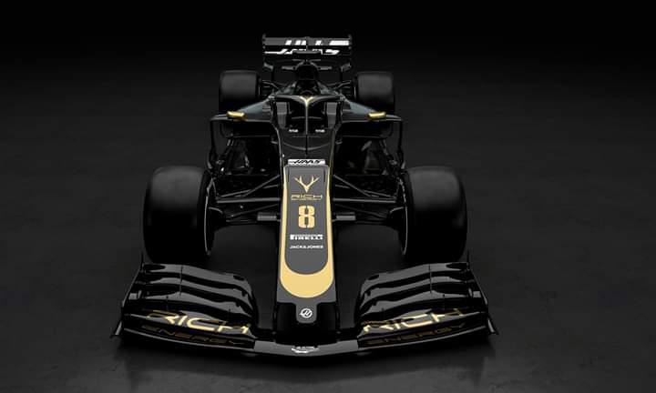 La versión física del coche de Haas para 2019 no se verá hasta la mañana del primer test de pretemporada en el circuito de Montmeló (Barcelona) el próximo lunes