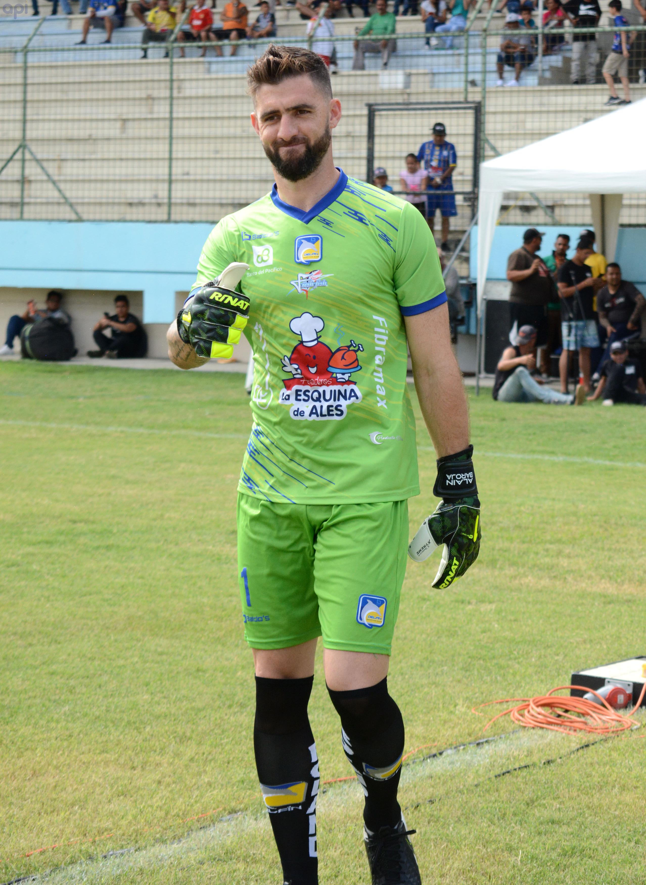 Alaín Baroja, golero de Delfín, se refirió al partido de la Supercopa Ecuador ante Liga de Quito