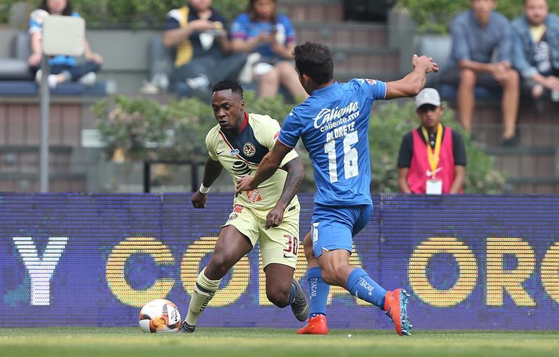 El ecuatoriano disputó la totalidad del encuentro en el empate entre América y Cruz Azul