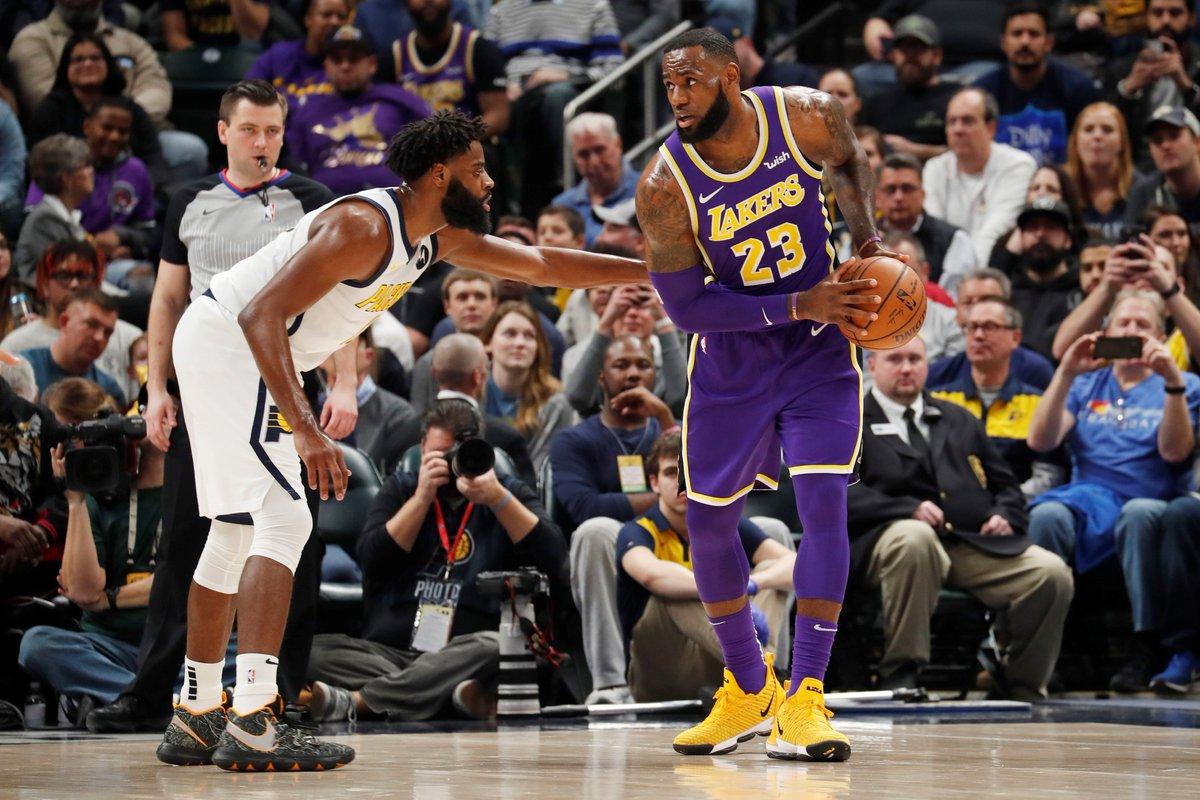 El alero croata Bojan Bogdanovic anotó 24 puntos y los Pacers ganaron por paliza (136-94) a los Lakers y humillaron a James, con la peor derrota como profesional