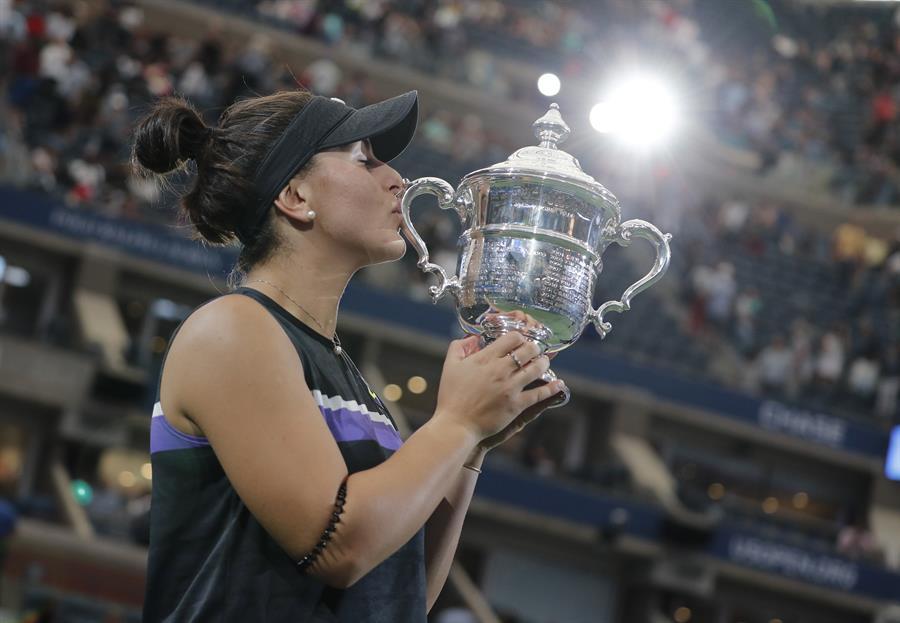 La canadiense sorprendió a propios y extraños en la definición del US Open
