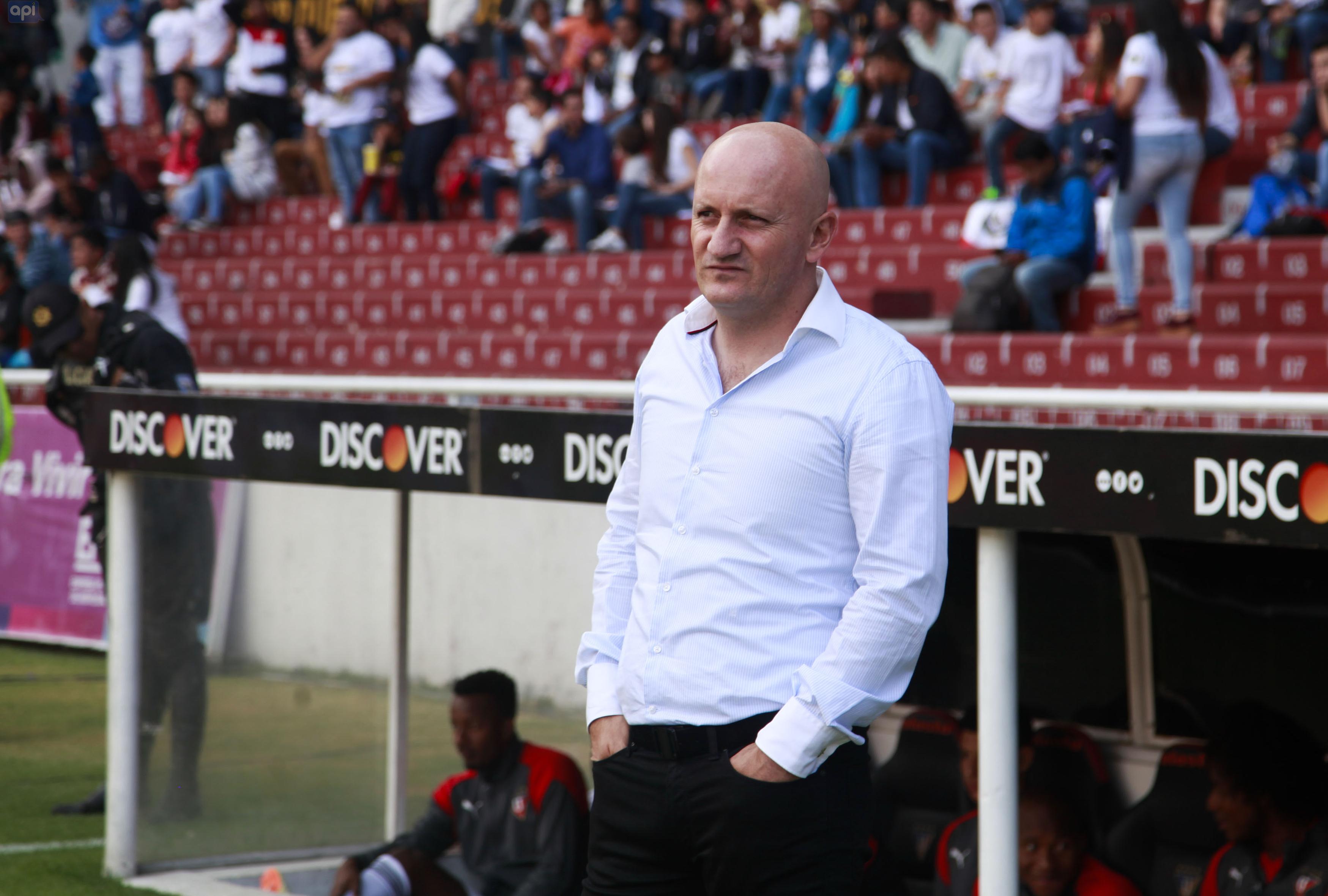 """El técnico de Liga de Quito analizó al rival de turno y espera """"tomar las decisiones con sabiduría"""" para sacar un buen resultado"""