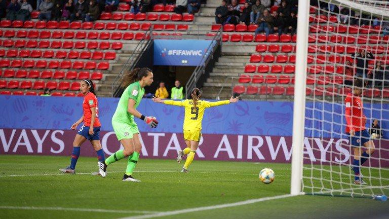 Sufrió Suecia, que acabó en dos ocasiones tercera en la historia de los Mundiales femeninos, para superar el coraje de Chile