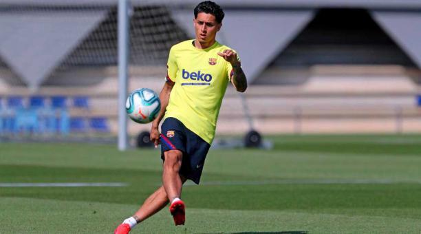 El DT Setién decidió sumar a varios juveniles a la práctica de este miércoles, pensando en lo que será la reanudación de La Liga el próximo 13 de junio