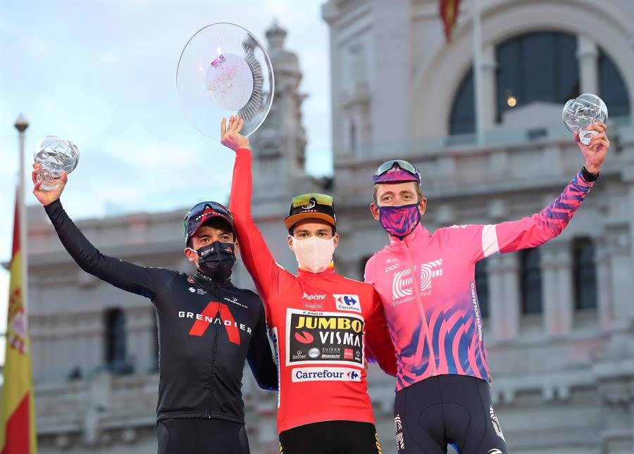 El ecuatoriano se mostró grato luego de conseguir el segundo puesto en La Vuelta