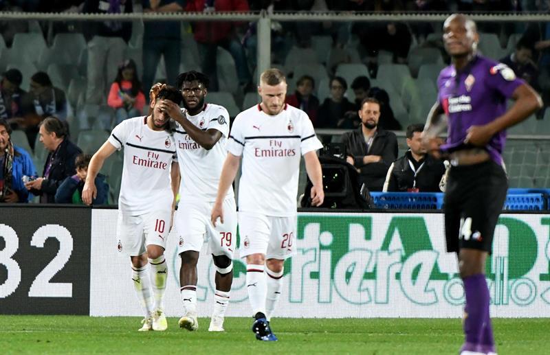 Hakan Calhanoglu fue el autor del gol de los dirigidos por Genaro Gattuso