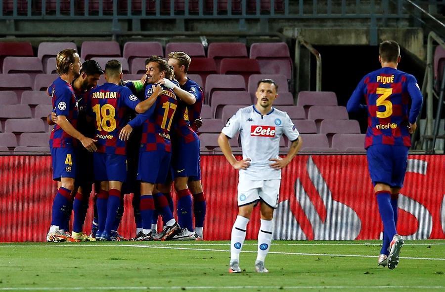 Los catalanes se impusieron ante Napoli y acceden a cuartos de final