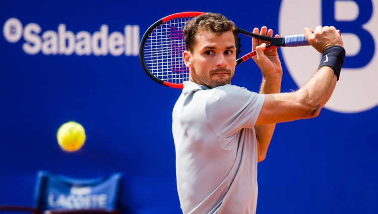 El tenista búlgaro reapareció en el Open de Miami tras lesionarse en el hombro derecho en Australia