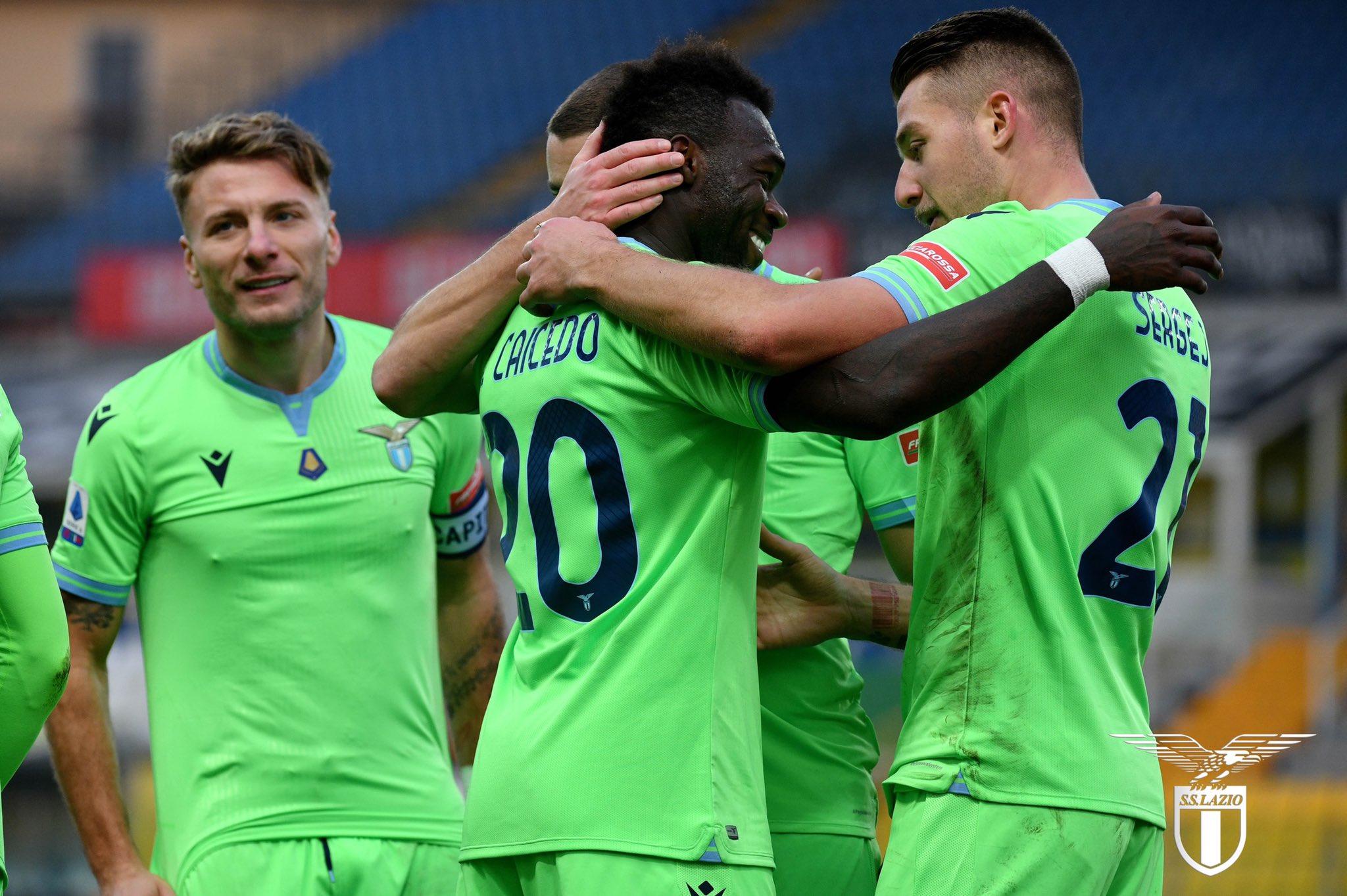 El delantero ecuatoriano marcó el segundo tanto de los romanos, en la victoria sobre Parma