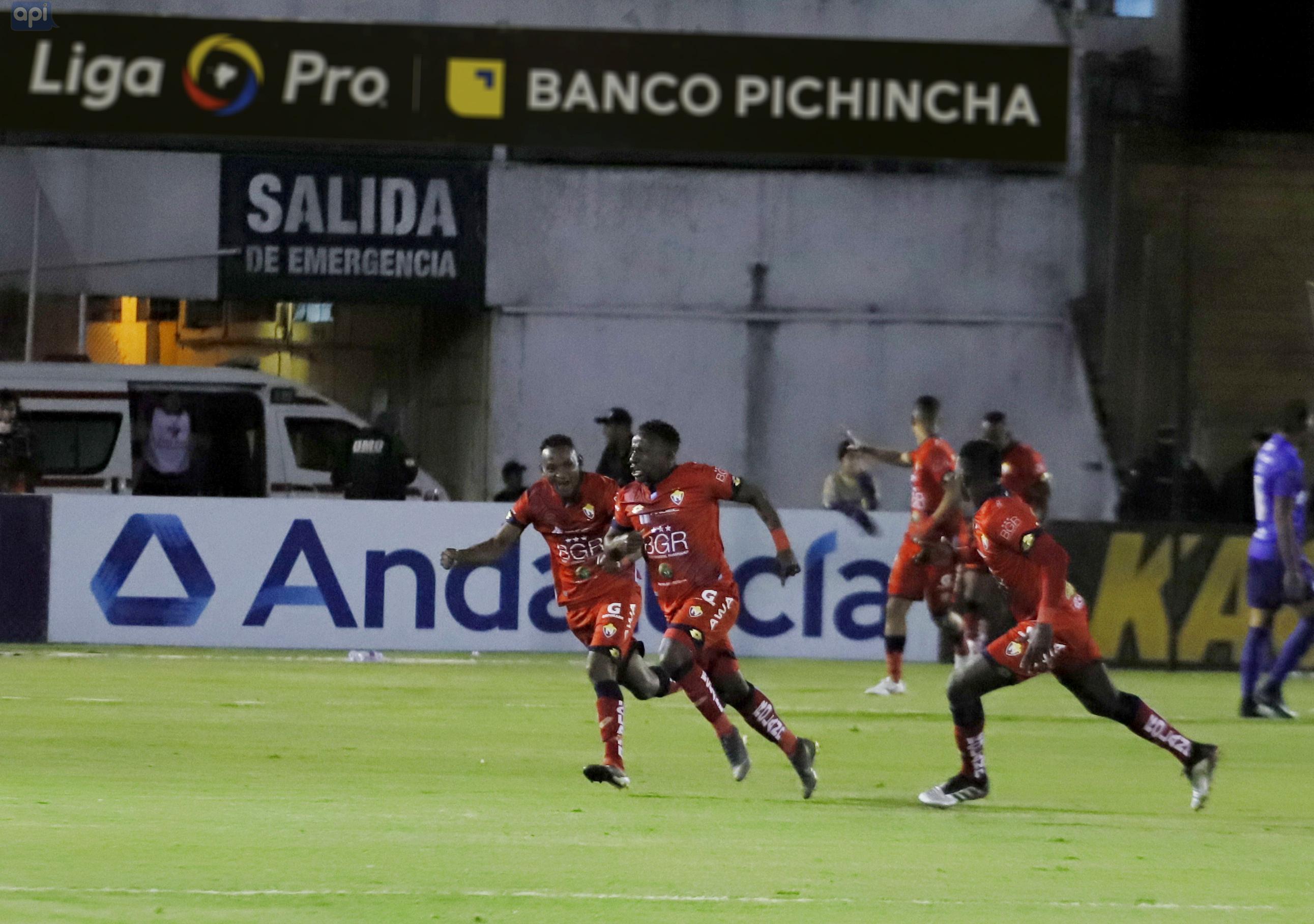 """La victoria del El Nacional ante Emelec ubica a los """"Puros Criollos"""" en el séptimo puesto con 30 puntos en la LigaPro."""
