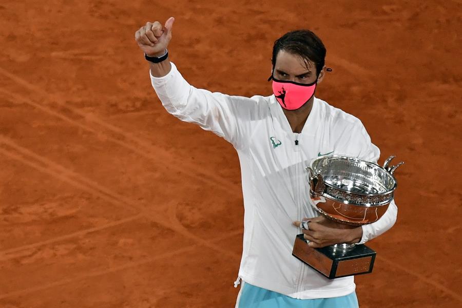 El español llega a la marca de 20 triunfos en Grand Slam